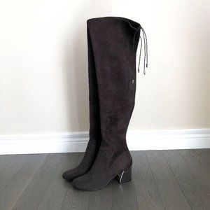Lord & Taylor Brown Suede Knee High Boots 7